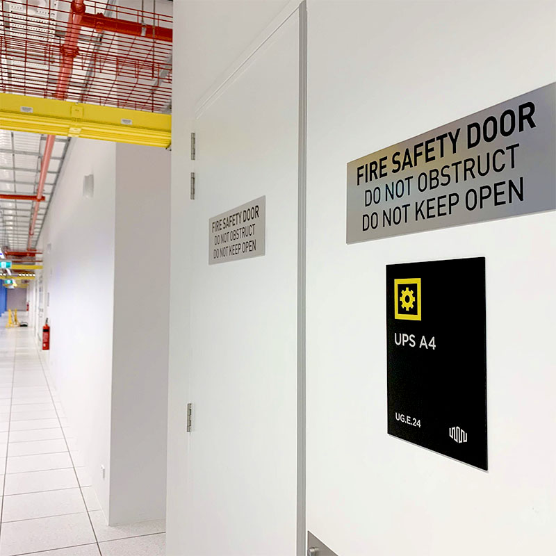 Safety Signs - Engraved Metal Fire Door