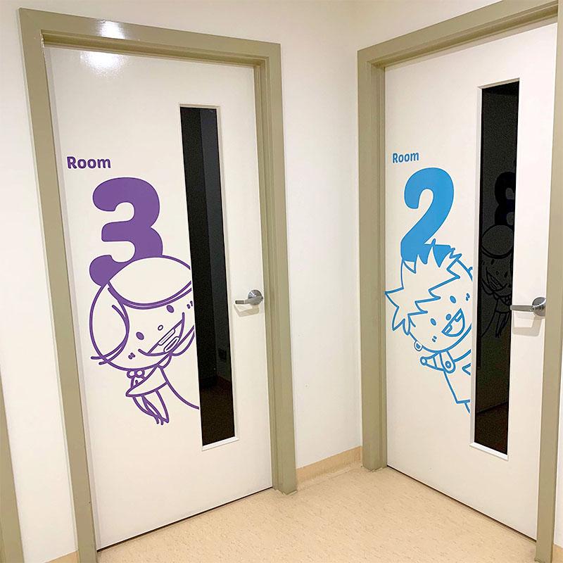 Kiddies Dental Care - Room Door Decals