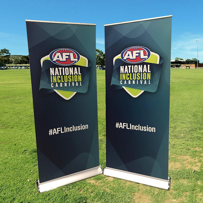 Silver Premium Stand Pull Up Banners - AFL