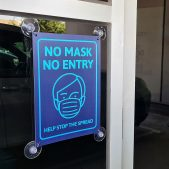 Hygiene Sign - Suction Cup