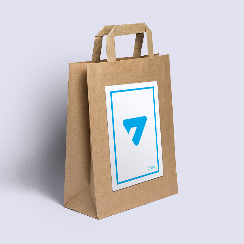 Flexe Paper Bag with Sticker