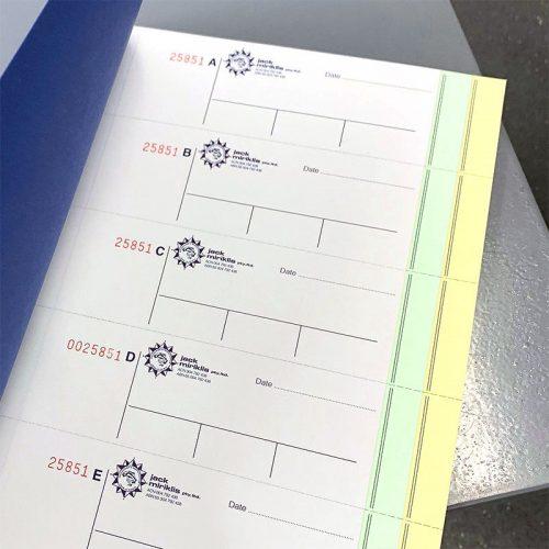 NCR Carbonless Invoice Books - Triplicate Books