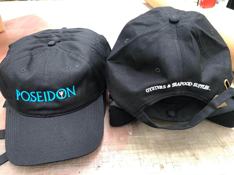 Caps Embroidery - Poseidon