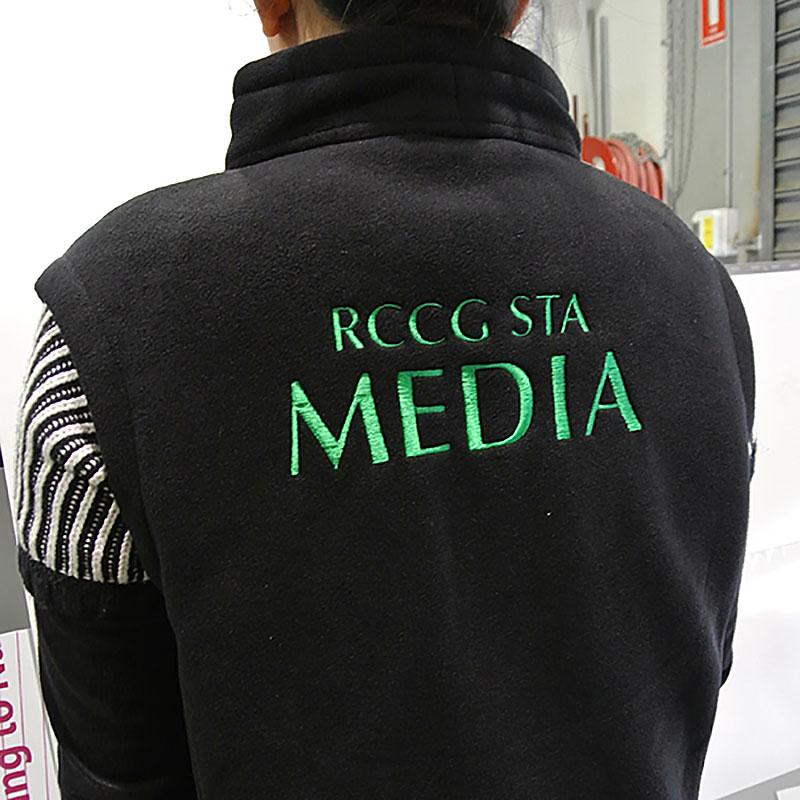 Vest Jacket Embroidery - RCCG