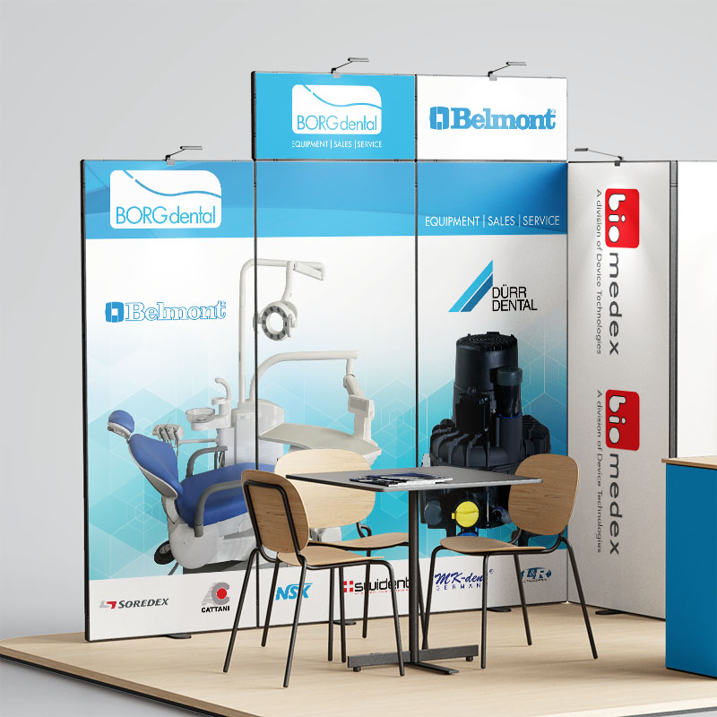 Event Signage - Borg Dental Exhibition Booth