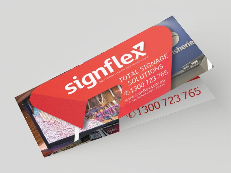 DL Landscape Folded Flyer - Signflex