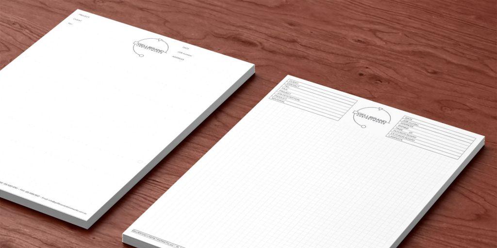 Graph Paper Letterheads