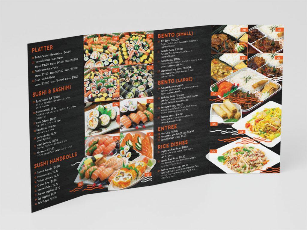 Menus - DL 4-fold Takeaway Menu