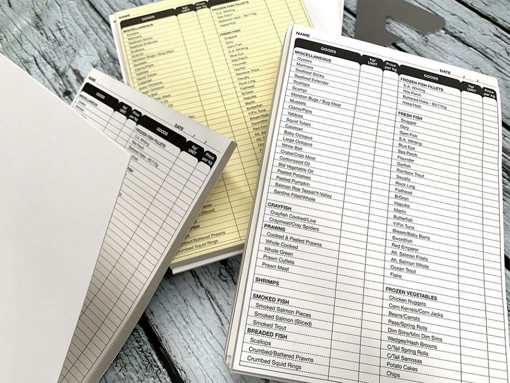 NCR Carbonless Invoice Books - Duplicate Pads