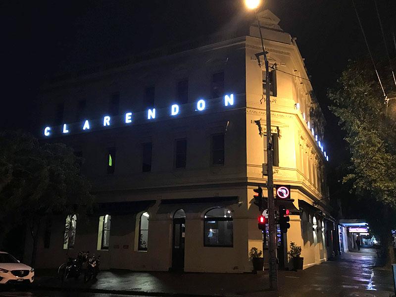 3D LED Sign - Clarendon Hotel