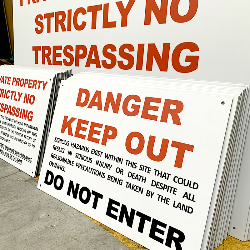 Safety Signs - Private Property