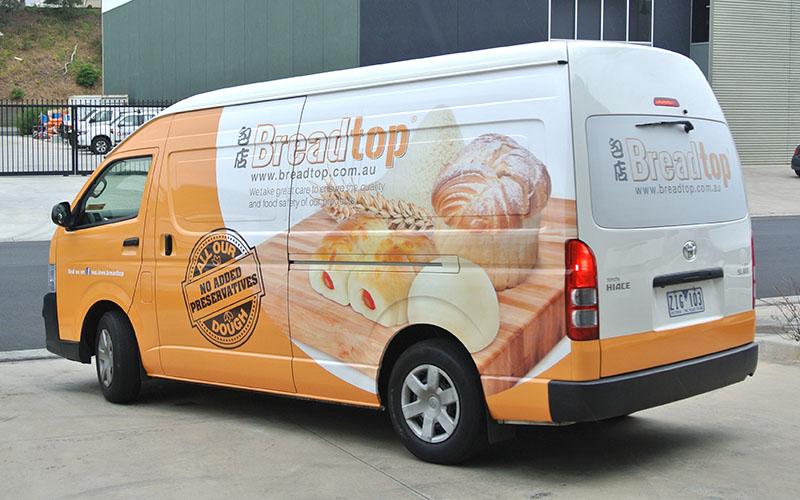 Vehicle Signage - Breadtop Toyota HiAce Van