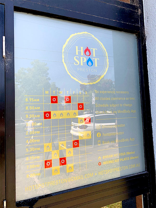 Window Signage - Timetable Decals