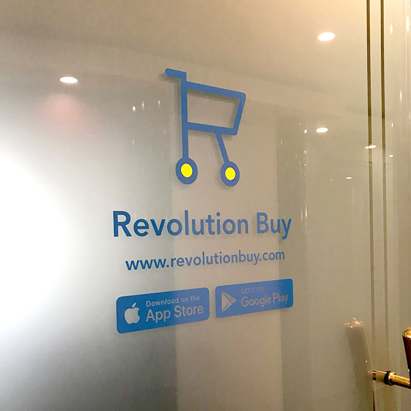 Window Signage - Vinyl Decals front, Frost back