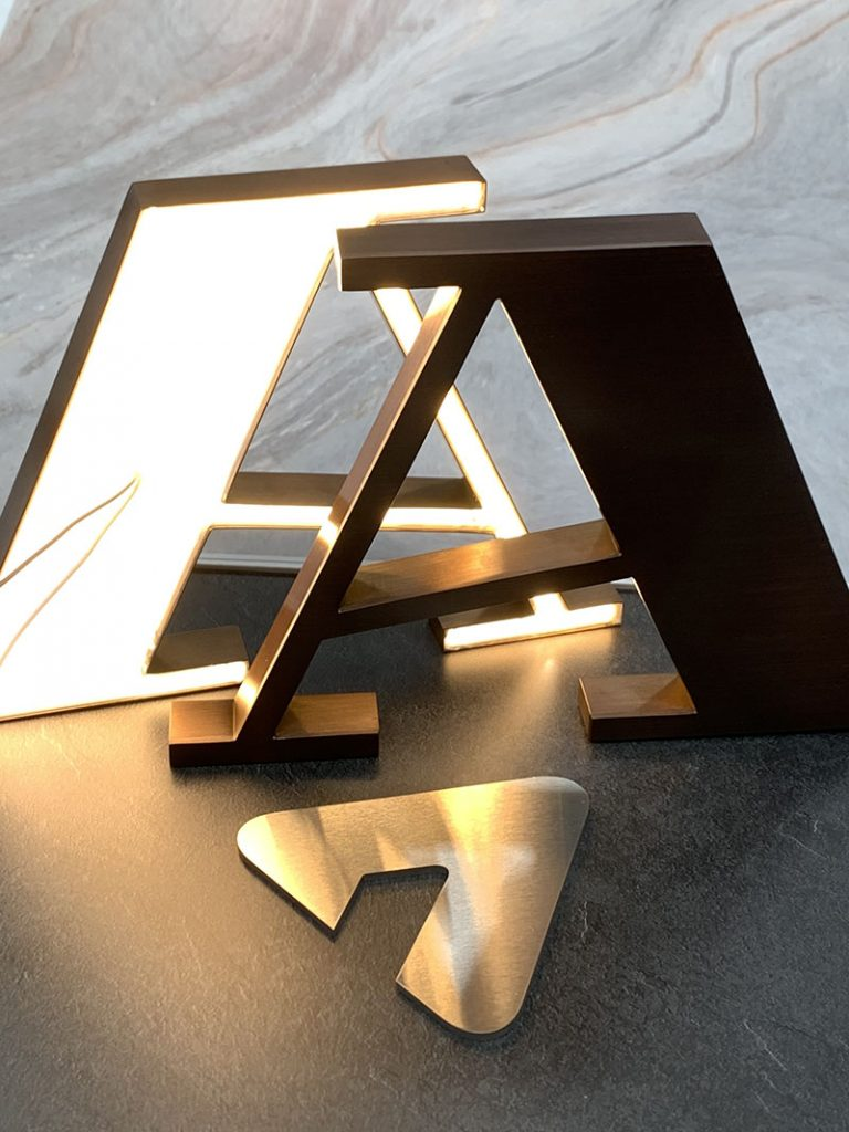 Atas Dining - 3D LED Signage back