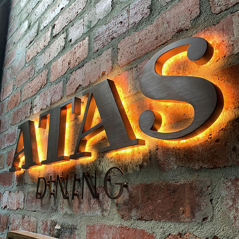 Atas Dining - 3D LED Signage
