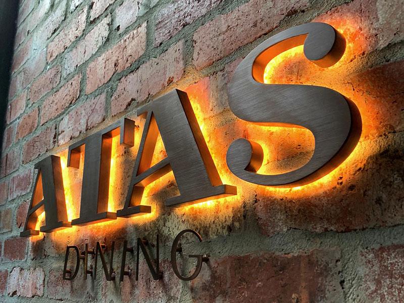 3D LED Sign - Atas Dining
