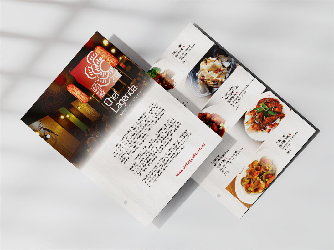 Chef Lagenda - Dine In Menu Pages