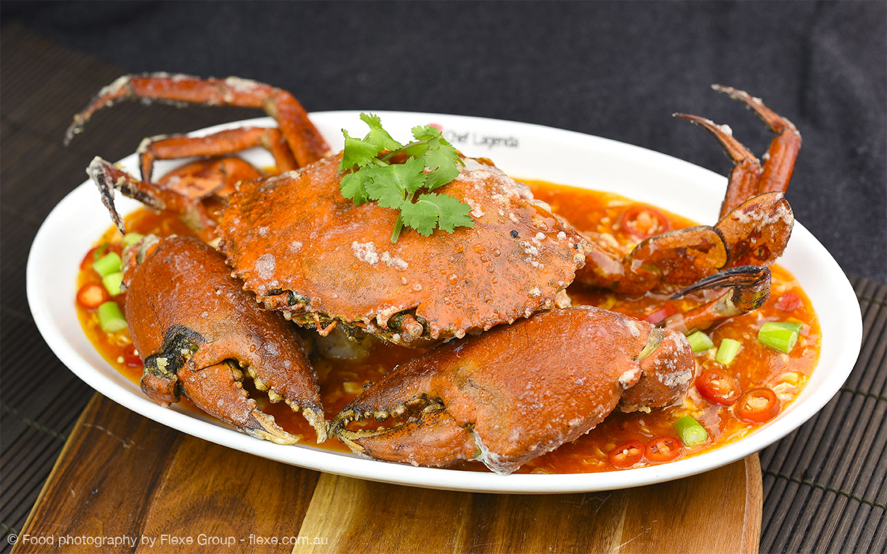 Chef Lagenda - Food Photography by Flexe Group - Chilli Crab