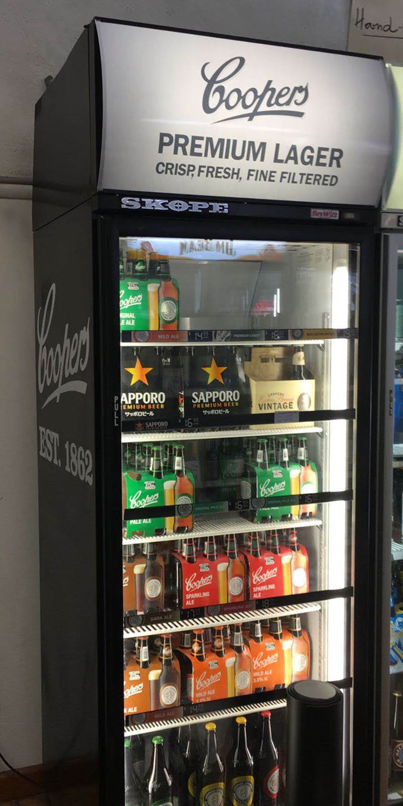 Coopers - Fridge Decals and Lightbox Print