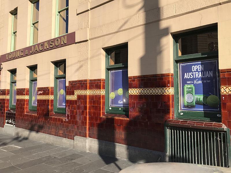 Coopers - Young & Jackson Window Signage