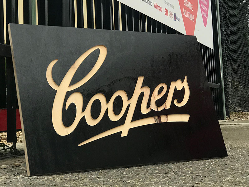 Coopers - Woodcut Panel