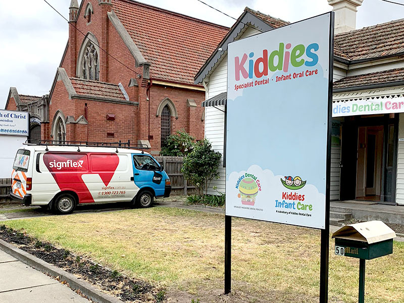 Kiddies Dental Care - Magnetic Post and Panel Sign
