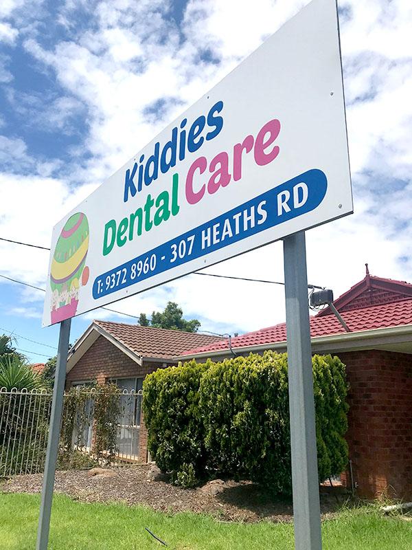 Kiddies Dental Care - Post and Panel Signage