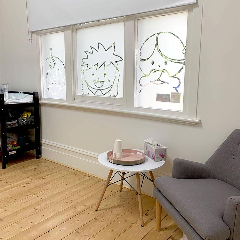 Kiddies Dental Care - Waiting Room Window Frost