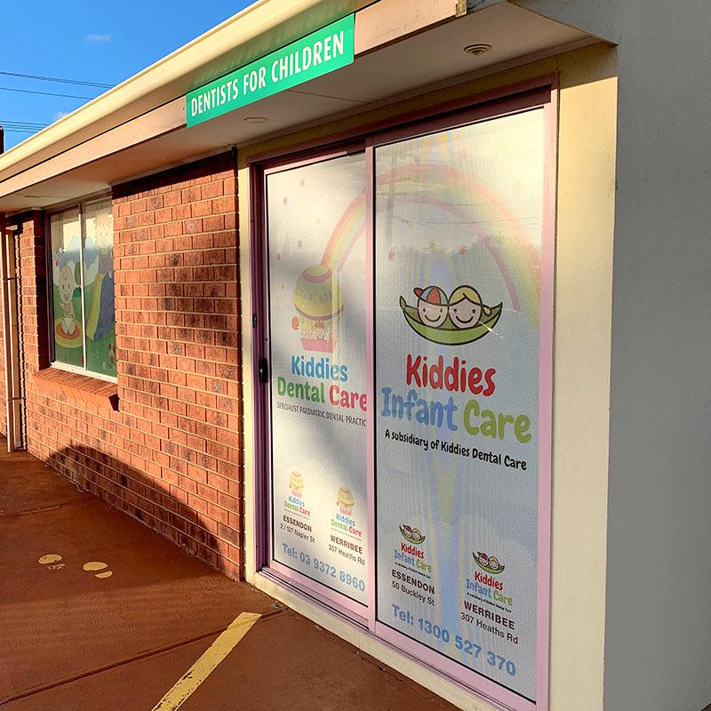 Kiddies Dental Care - One Way Vision Door Prints