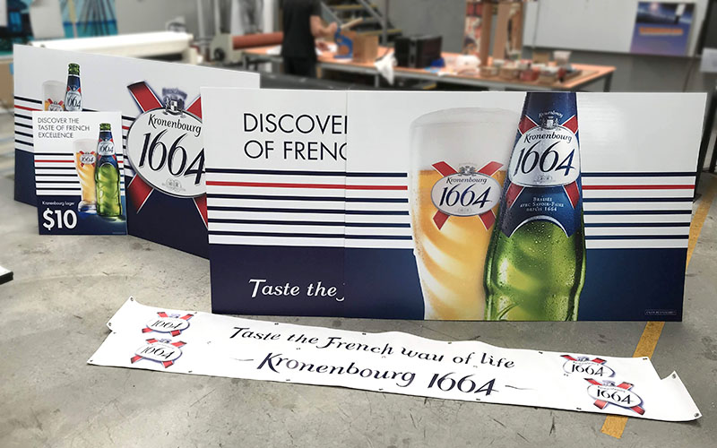 Kronenbourg - '1664' Corflute Panels and Banners