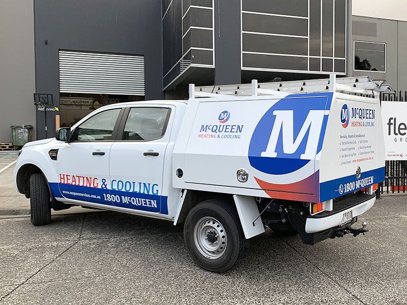 Vehicle Signage - McQueen H&C Ford Ranger