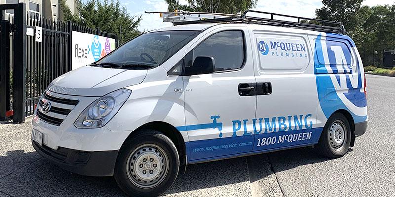 Vehicle Signage - McQueen Plumbing Hyundai iLoad