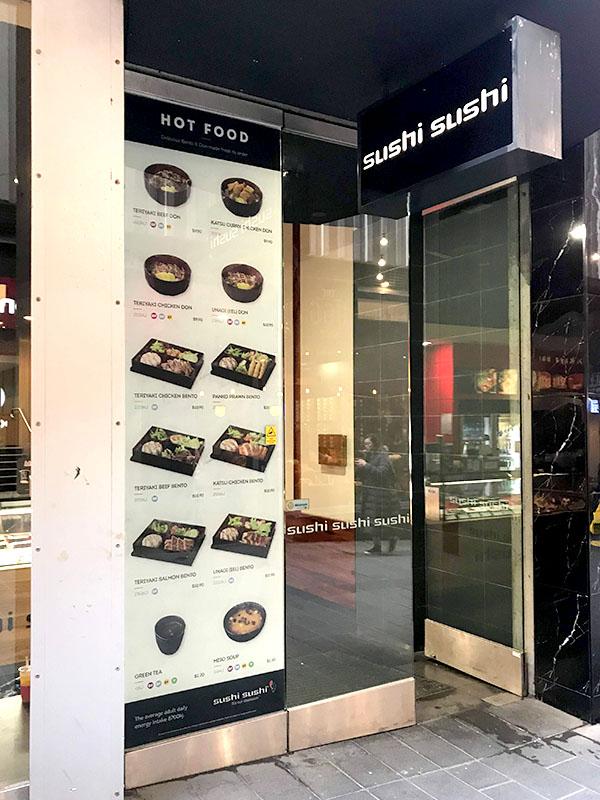 Sushi Sushi - Shopfront Window Menu