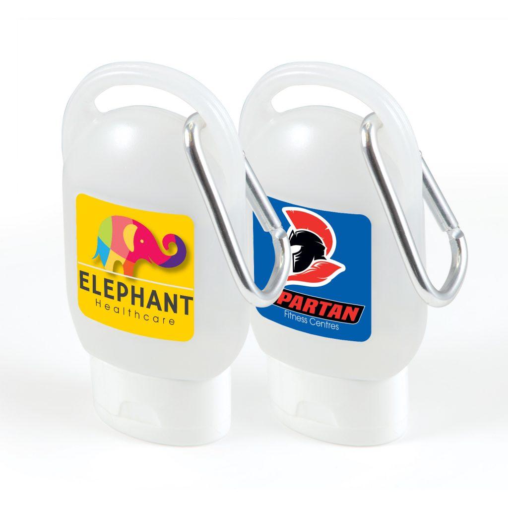 Hand Sanitiser Bottle with Carabiner