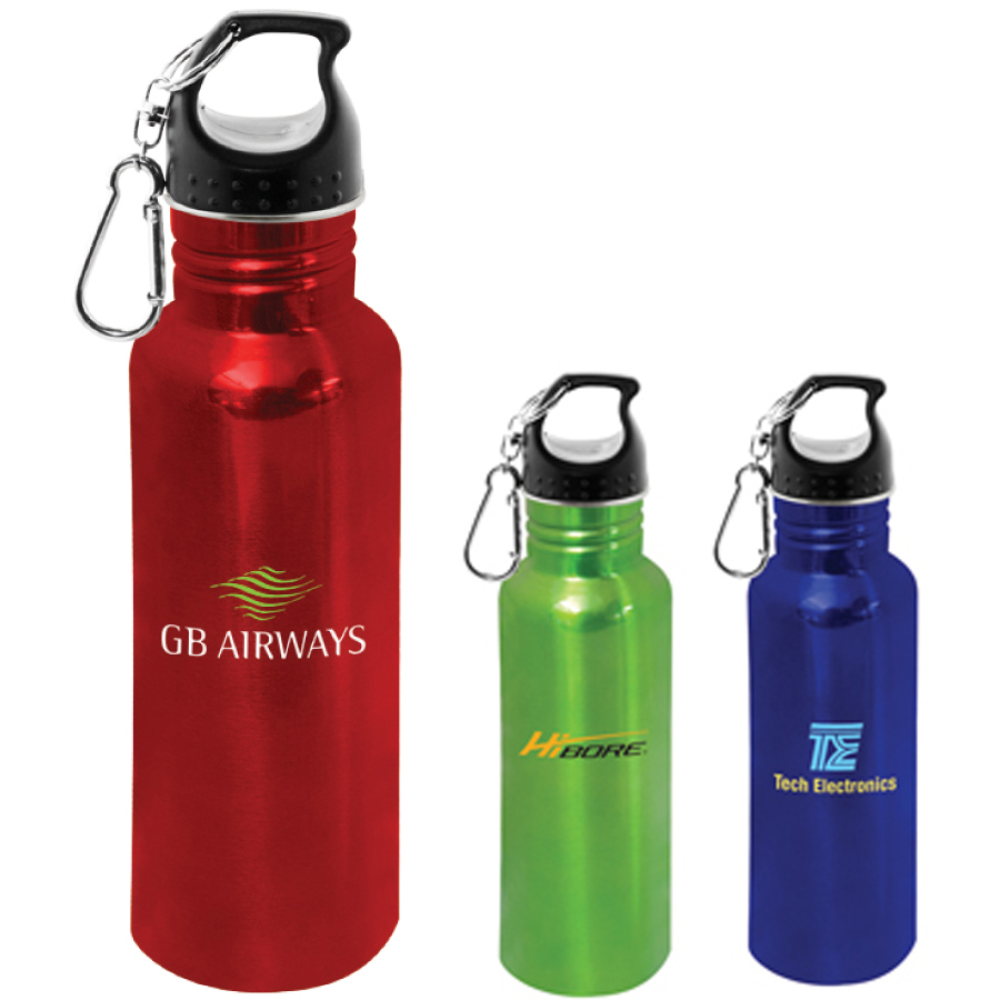 Metal Drink Bottles with Clip