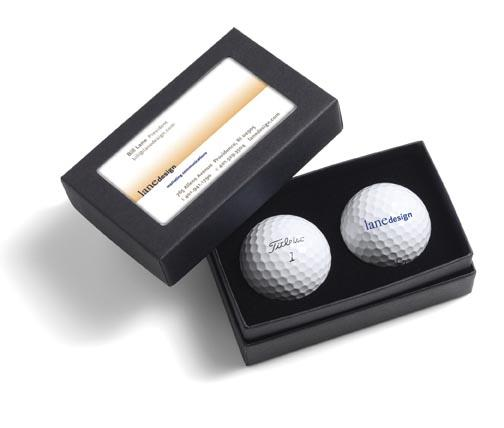 Golf Balls with Business Card Box