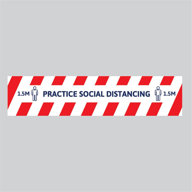 Safety Signs - Floor Decals - Social Distancing