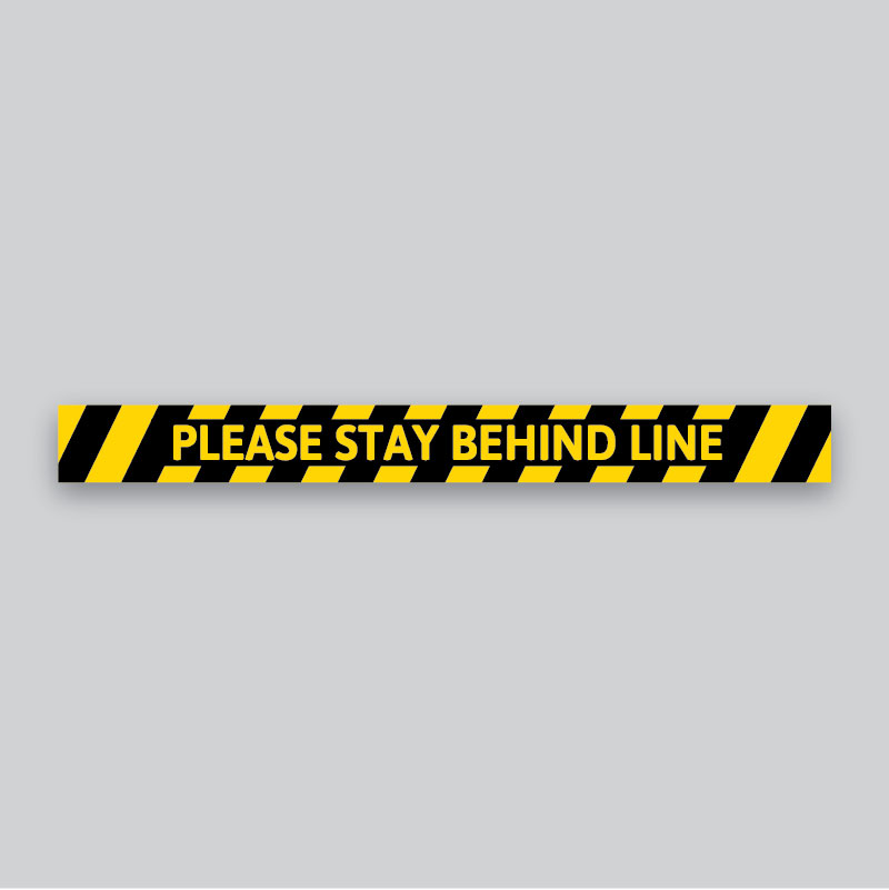 Safety Signs - Floor Decals - Stay Behind