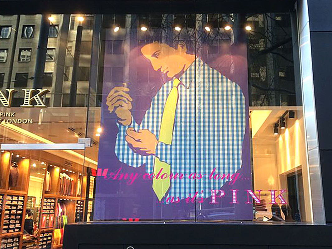Thomas Pink - Window Banner (Any Colour)